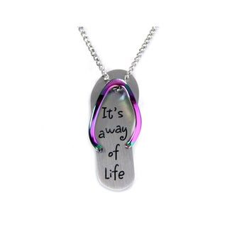 It's a Way of Life Colored Flip Flop Necklace