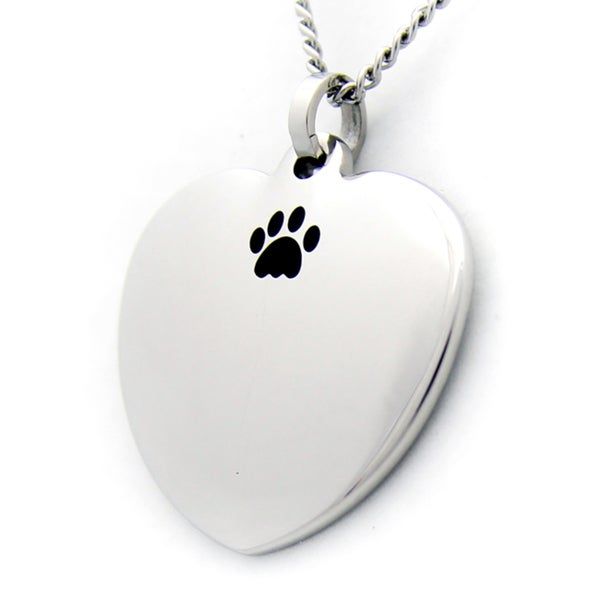 Unconditional Love and Paw Heart Necklace