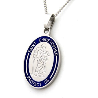 Saint Christopher Protect Us Necklace