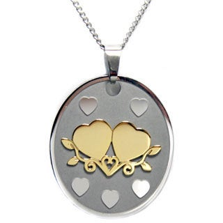 Hold A True Friend With Both Your Hands' Double Heart Pendant