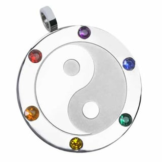 Yin Yang Gay Pride Necklace