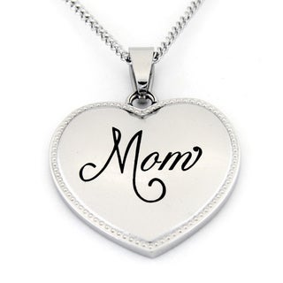 Mom Heart Shaped Stainless Steel Necklace