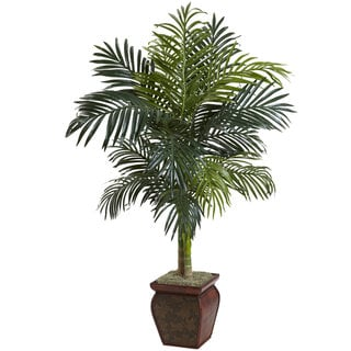 Link to Nearly Natural Golden Cane Palm with Decorative Container Similar Items in Decorative Accessories