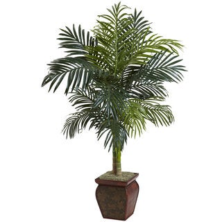 Nearly Natural Golden Cane Palm with Decorative Container