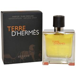Hermes Terre d'Hermes Men's 2.5-ounce Pure Perfume Spray