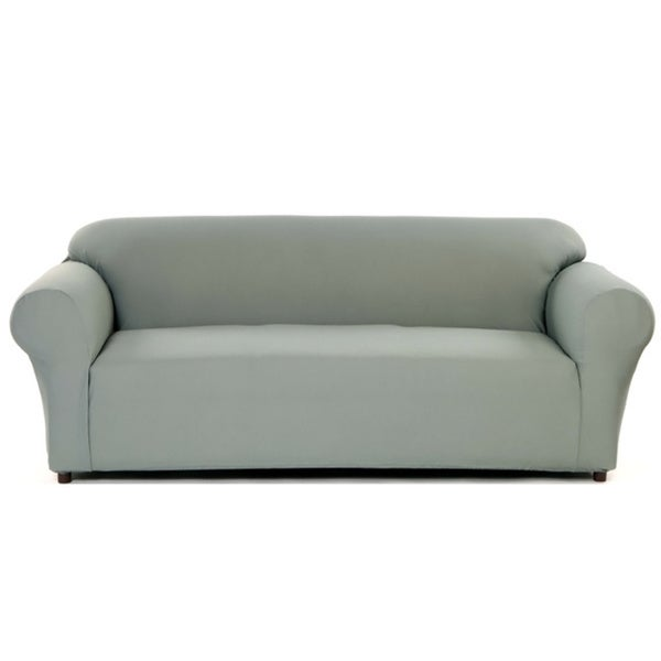 Stretch Waffle Loveseat Slipcover