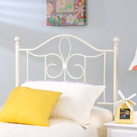 Taylor & Olive Hopkins White Metal Headboard