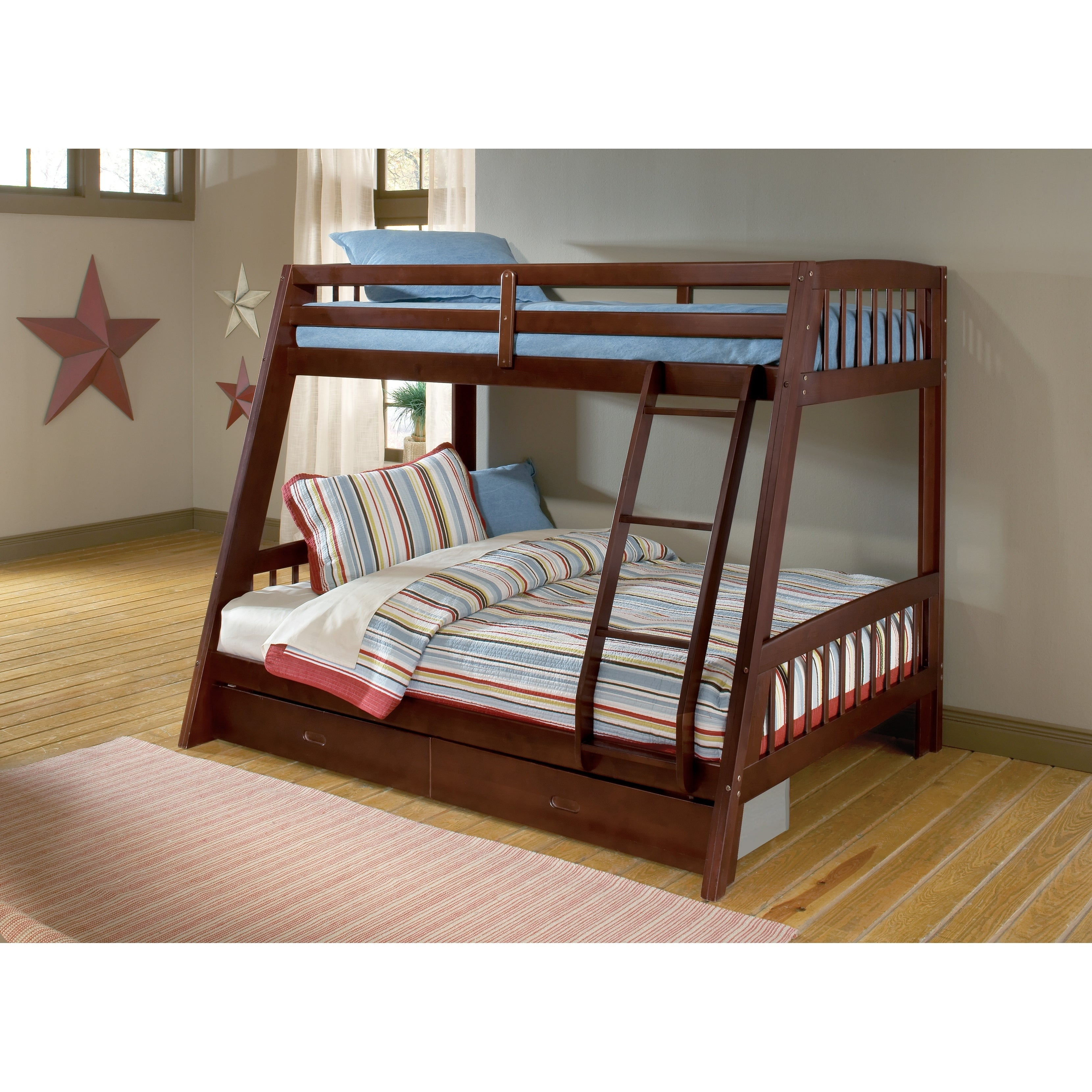 Rockdale Twin Over Full Bunk Bed On Sale Overstock 9620641 Espresso