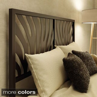 Amisco Zebra Queen Size 60-inch Metal Headboard
