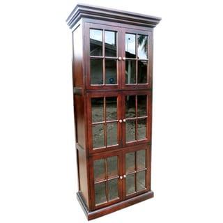 Handmade D-Art Mahogany Wood 6-Door Library Bookcase (Indonesia)