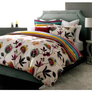 Eden Reversible Floral 3-piece Duvet Cover Set