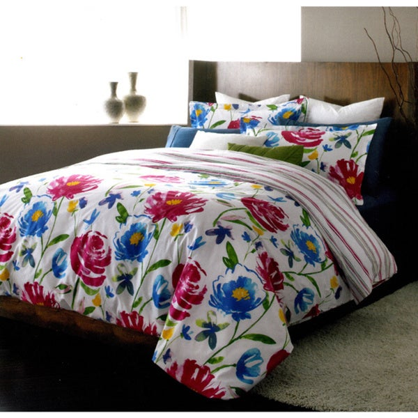 Piccadilly Reversible Floral 3-piece Duvet Cover Set