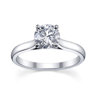 Platinum 1ct TDW Diamond Solitaire Engagement Ring