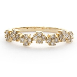 Victoria Kay 14k Gold Diamond Stackable Band