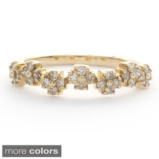 Victoria Kay 14k Gold Diamond Stackable Band