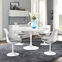Lippa 54-inches Marble Dining Table - White