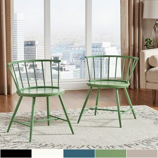 Truman Low Back Windsor Classic Dining Chair (Set of 2) by iNSPIRE Q Modern (5 options available)