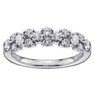 14k/ 18k White Gold 1ct Brilliant-cut Garland Diamond Wedding Band (G-H, SI1-SI2)