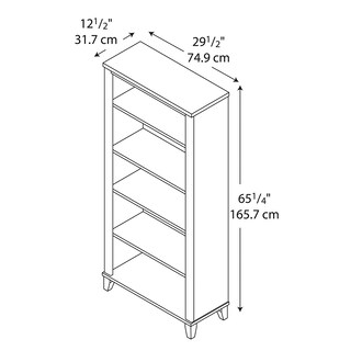 Bush Furniture Somerset 5 Shelf Bookcase (Option: Cherry Finish - Cherry)