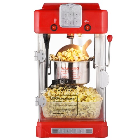 Great Northern Popcorn Machine Pop Pup Retro Style Popcorn Popper