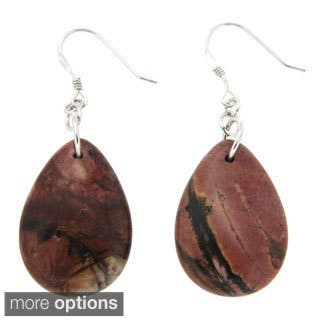 Pearlz Ocean Sterling Silver Picasso Jasper Earrings|https://ak1.ostkcdn.com/images/products/9621342/P16806562.jpg?impolicy=medium