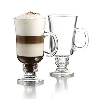 Crystal Clear Classic Irish Coffee 8.5-ounce Mug (Set of 4)