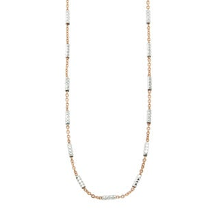 Eternally Haute 14k Rose Gold over Silver Necklace