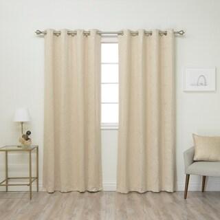 Aurora Home Circle 84-inch Foil Printed Blackout Curtain Panel Pair