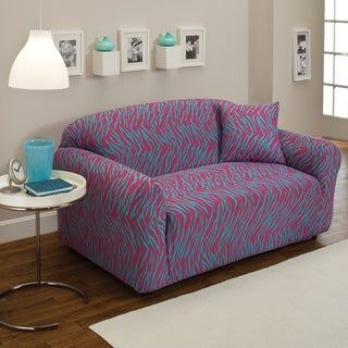 Sanctuary Stretch Jersey Zebra Loveseat Slipcover