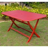 International Caravan Royal Fiji Rectangular Folding Patio Table
