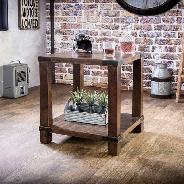 Furniture of america royce modern industrial end table for Homegoods industrial furniture