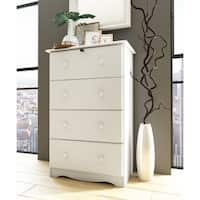 Solid Wood 4-Super Jumbo Drawer Chest by Palace Imports