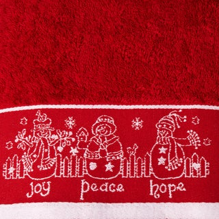 Enchante 'Joy Peace Hope' Embellished Turkish Cotton 2 or 3 piece Towel Set