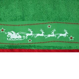 Enchante 'Santa's Sleigh' Embellished Turkish Cotton 2-piece Towel Set