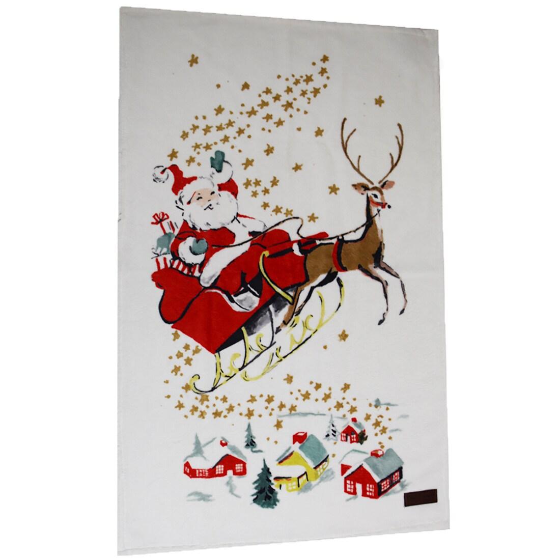 Enchante Santa Claus Turkish Cotton Hand Towel (Christmas...
