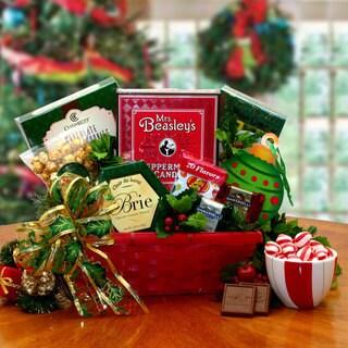 Happy Holiday Greetings Gourmet Gift Basket