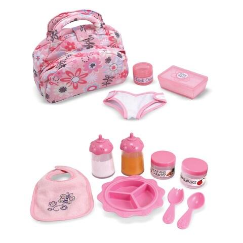 Melissa & Doug Pink Doll Accessories Bundle