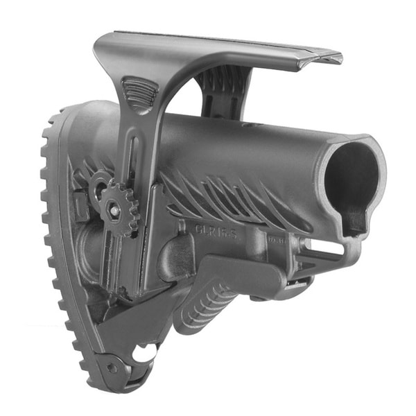 FAB Defense Stock with Internal Shock Absorber and Cheek Piece for AR15