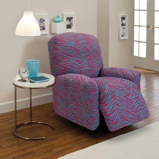 Stretch Jersey Zebra Large Recliner Slipcover