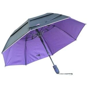 Black Aspen Solo Nylon 46-inch Wind-resistant Umbrella (Option: Purple)