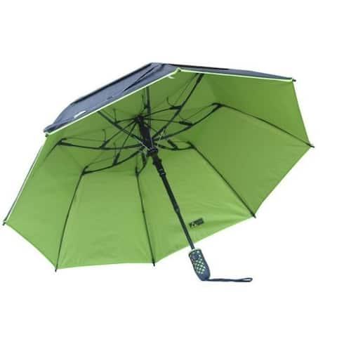 Black Aspen Solo Nylon 46-inch Wind-resistant Umbrella