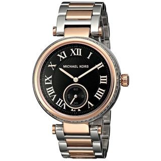 Link to Michael Kors Women's MK5957 Skylar Silver and Rose Gold Tone Watch Similar Items in Women's Watches