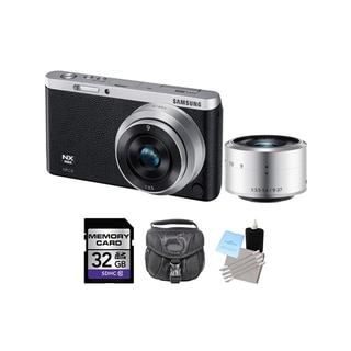 Samsung NX Mini Black Digital Camera w/9 and 9-27mm Lens 32GB Bundle