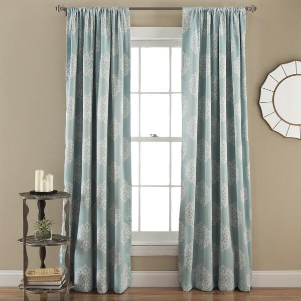 Lush Decor Sophie Blackout Curtain Panel Pair Free