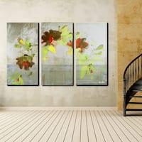 Ready2HangArt 'Painted Petals V' 3-piece Canvas Wall Art