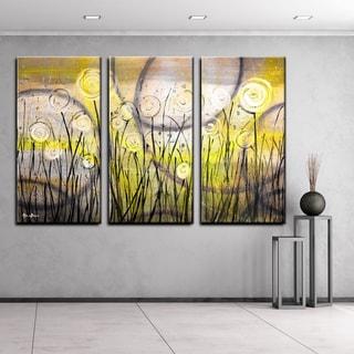 Ready2HangArt 'Painted Petals VI' 3-piece Canvas Wall Art