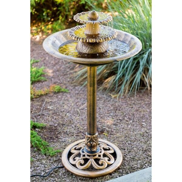 Alpine Corporation 3-Tiered Pedestal Water Fountain Bird Bath