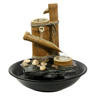 Large Bamboo Slide Eternity Tabletop Fountain