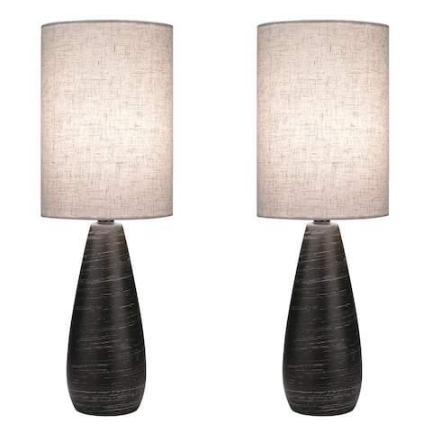 Lite Source Two Pack Quatro 1-light Small Table Lamp