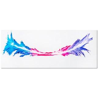 Mendo Vasilevski 'Energy' Colorful Abstract Metal Wall Art Print